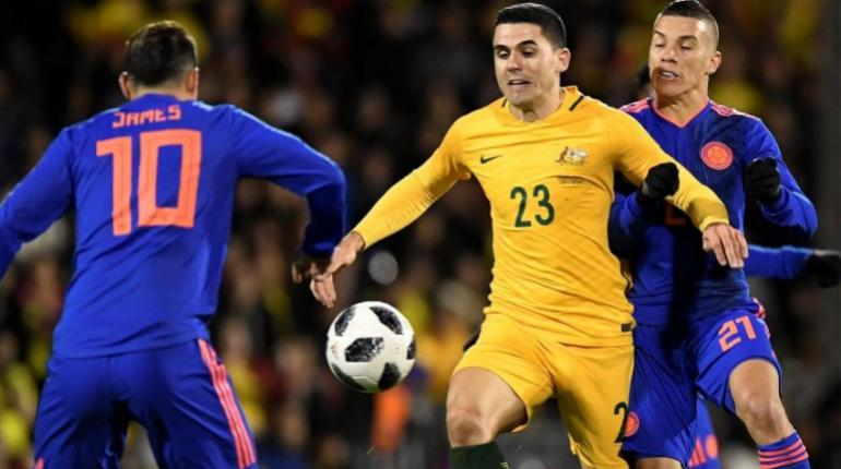 Colombia empata 0-0 en amistoso con Australia rumbo a Rusia 2018