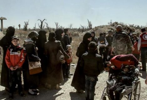 Más de 3.100 civiles salieron de la región asediada siria de Guta Oriental