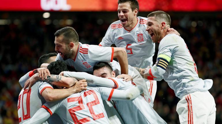 España golea 6-1 en amistoso a una Argentina sin Messi