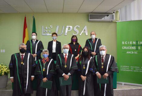 DIRECTORIO DE LA ACADEMIA NACIONAL DE CIENCIAS: En la UPSA se posesionó a los académicos de Santa Cruz