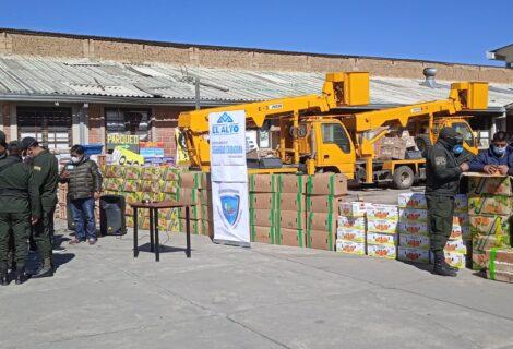 DECOMISAN FRUTAS Y HORTALIZAS DE CONTRABANDO: En operativo incautan más de 4 toneladas en El Alto