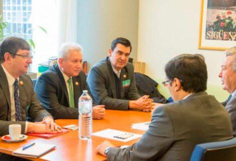Demócratas se reúnen con diputados del Parlamento Europeo para hablar sobre el 21F