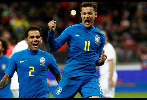Brasil goleó a Rusia por 0-3 en Moscú