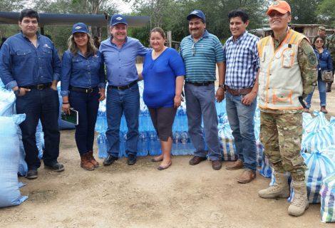 Petroleros y Viceministerio de Defensa Civil se solidarizan con damnificados del Chaco