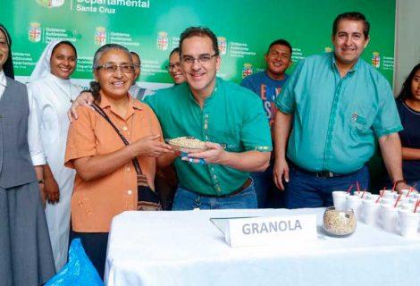 La Gobernación recibió 50 quintales de granola, para que puedan ser entregados a los centros de rehabilitación y hogares de niños