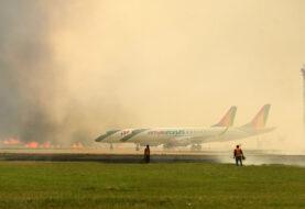 INCENDIOS LLEGAN HASTA EL AEROPUERTO VIRU VIRU: Arden depósitos y la humareda perjudica los vuelos